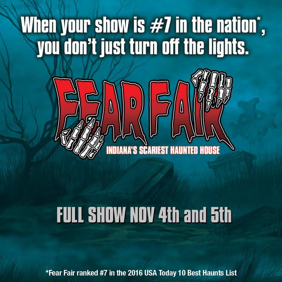 Fear Fair Full Show November 4th and 5th, 2016