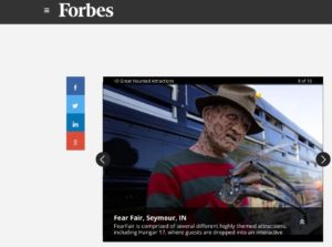Fear Fair Forbes Magazine Great Haunted Attraction