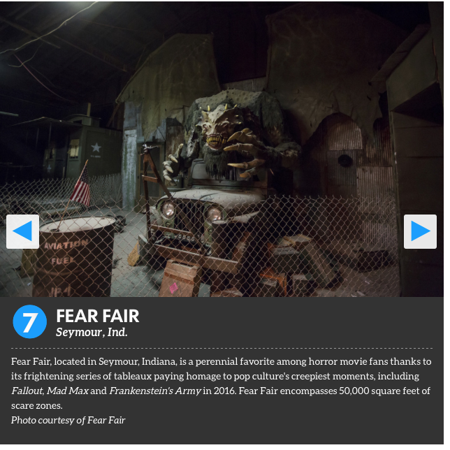 Fear Fair Ranked 7th in USA Today Ten Best Haunted Attractions List